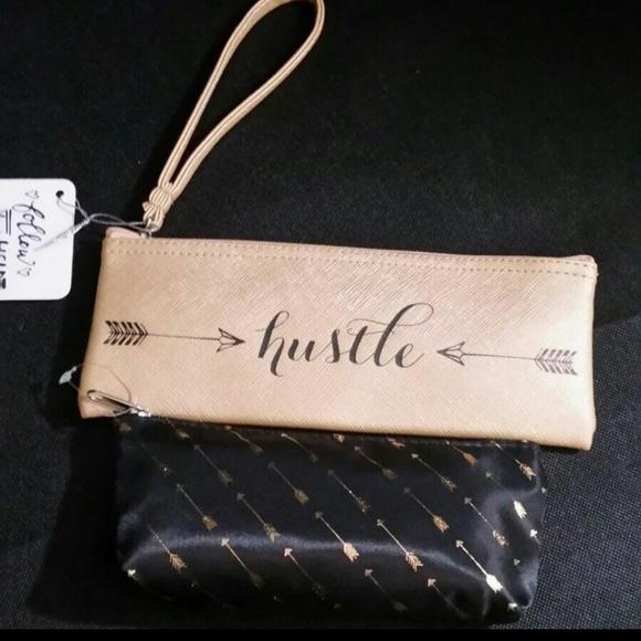 Handbags - Hustle & Arrows Cosmetics Wristlet/Bag